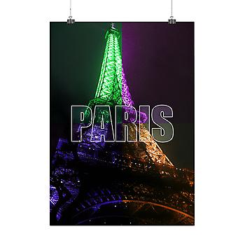 Matte or Glossy Poster with Paris Photo Night Fashion | Wellcoda | *q191