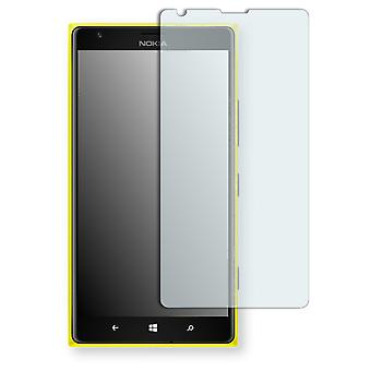 Nokia Lumia 1520 LTE display protector - Disagu mirror foil backing (deliberately smaller than the display, as this is arched)
