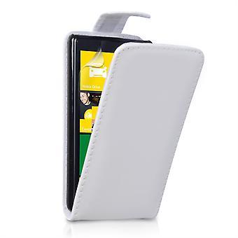 Yousave Accessories Nokia Lumia 820 Leather-Effect Flip Case - White