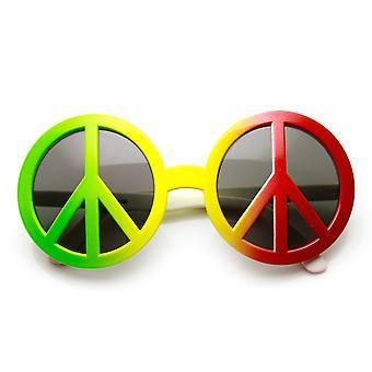Знак мира коммунальный эпохи хиппи свободной любви Вудсток новизна костюм партия очки
