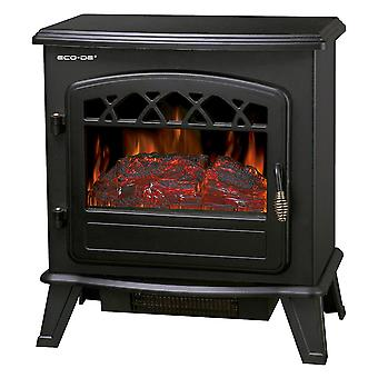 Electric Fireplace with legs. Black
