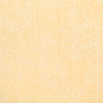 Harlequin Yellow & White Wallpaper Roll - Flat Floral Design - Colour: 75682