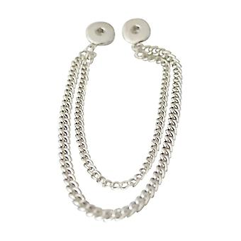 Stainless Steel Necklace With Pendant For Click Buttons Kb0134