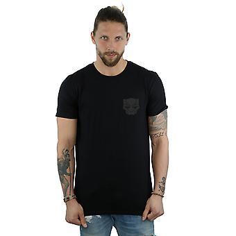 Marvel Men's Black Panther Black On Black Chest Print T-Shirt