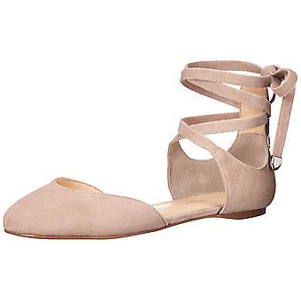 Ivanka Trump Womens Elise Leather Closed Toe Ankle Wrap Ballet Flats
