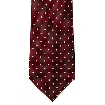 Michelsons of London Traditional Spot Silk Tie - Red