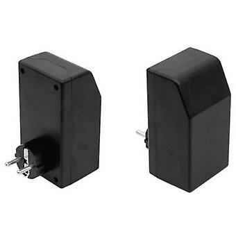 Connector housing 121 x 66 x 55 Plastic Black Strapubox
