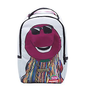 Sprayground Biggie Barney Backpack - White
