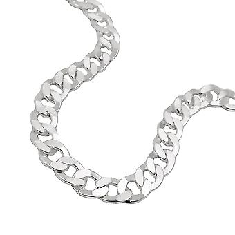 Ketting open curb ketting zilver 925