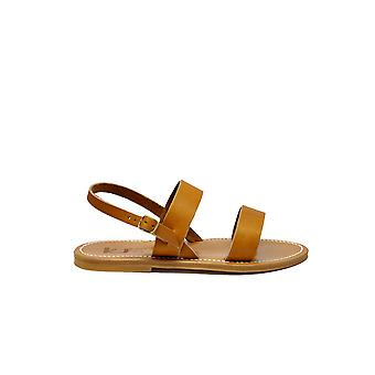 K Jacques women's BARIGOLEFCNCPULNATUREL brown leather sandals
