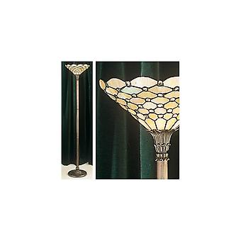 Interiors 1900 FL395 + TO6/M Pearl Classic Tiffany Single Light Floor