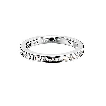 ESPRIT women's silver ring glamline square ESRG91670A1