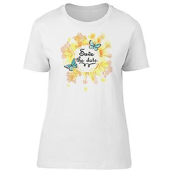 Bright Save The Date Wedding Tee Women's -Image by Shutterstock