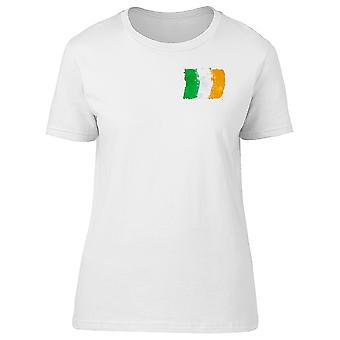 Brush Painted Flag Of Ireland Tee Women's -Image by Shutterstock