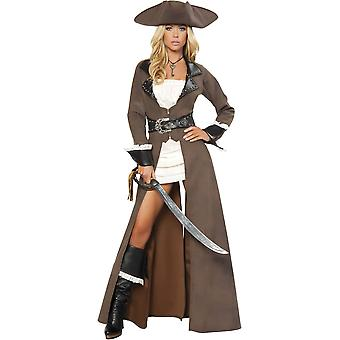 Roma RM-4242 Deluxe 4pc Pirate Captain