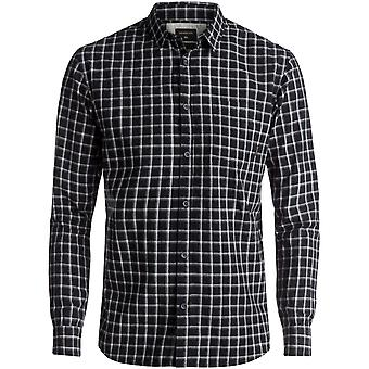 Quiksilver Black Everyday Check Long Sleeved Shirt