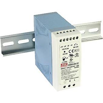 Mean Well MDR-60-12 Rail mounted PSU (DIN) 12 Vdc 5 A 60 W 1 x