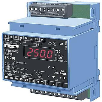 Ziehl TR 210 Temperature controller KTY -270 up to 1820 °C 5 A relay, Analogue current (L x W x H) 58 x 70 x 90 mm