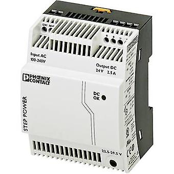 Phoenix Contact STEP-PS/1AC/24DC/2.5 Rail mounted PSU (DIN) 24 Vdc 2.75 A 60 W 1 x