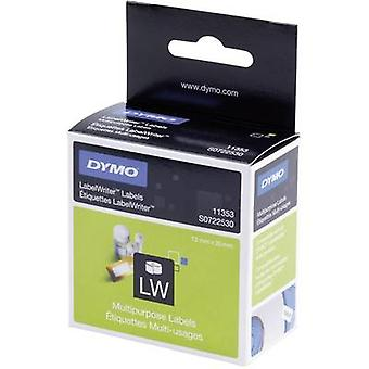 DYMO Label roll 25 x 13 mm Paper White 1000 pc(s)
