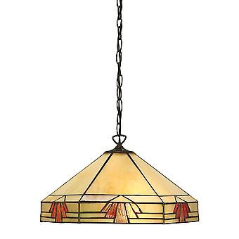 Interiors 1900 Nevada Tiffany Glass Ceiling Pendant Lamp