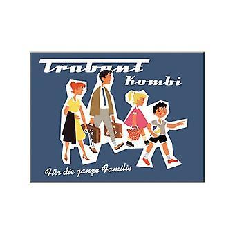Trabant Familie Advertisement Metal Fridge Magnet