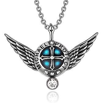 Erzengel Engelsflügel Michael Schutzschild magische Kraft Amulett Anhänger Halskette