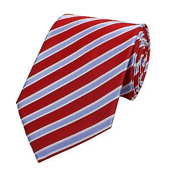 Schlips Krawatte Krawatten Binder Breit 8cm Rot/Violett gestreift Fabio Farini