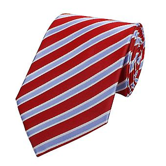 Nek tie stropdas banden Binder breed 8cm rood/violet gestreepte Fabio Farini