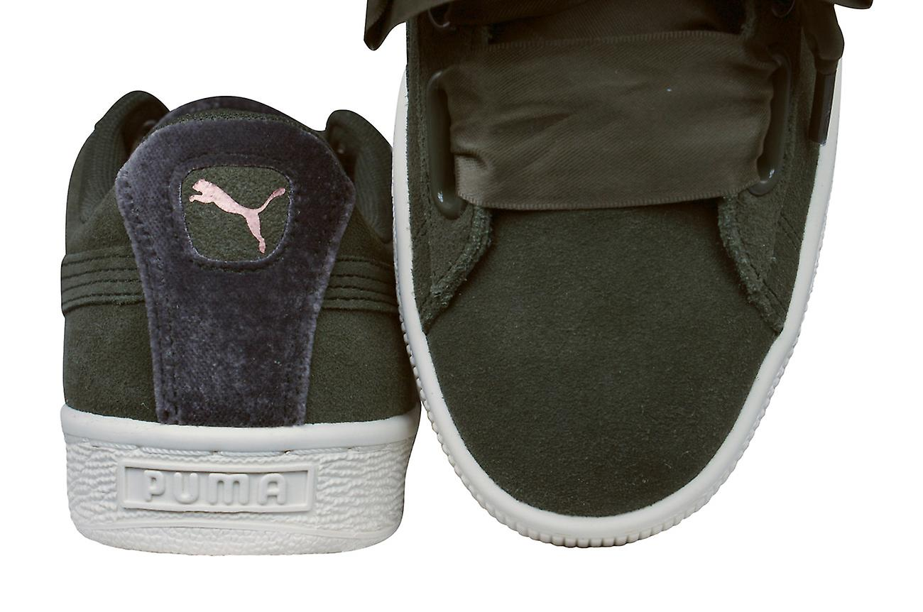 low priced 46192 d72ba Puma Suede Heart VR Womens Trainers / Shoes - Olive