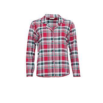 Cyberjammies 3854 vrouwen Holly Red Check Pajama pyjama's Top