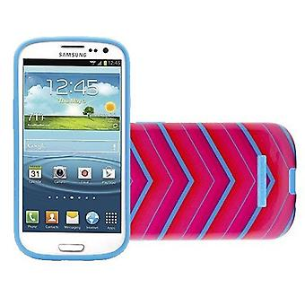 Body Glove Snap-On Case pour Samsung Galaxy S4 (Glossy Pink et Teal Chevron Pattern)