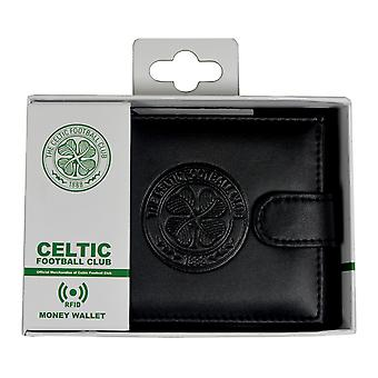 Celtic FC Mens Official RFID Embossed Leather Wallet