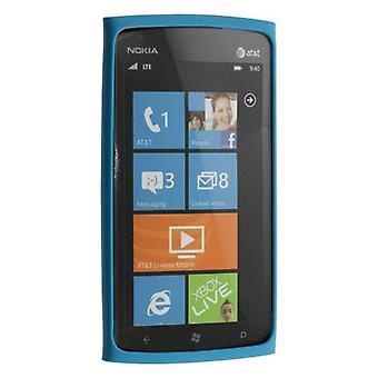 OEM Nokia Lumia 900 4 paraurti sottile Silicone caso - blu (0721871)