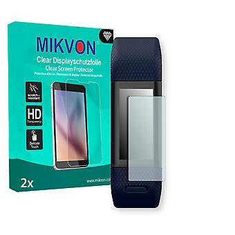 Garmin vivosmart HR+ Screen Protector - Mikvon Clear (Retail Package with accessories) (intentionally smaller than the display due to its curved surface)