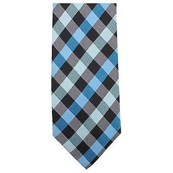 Corbatas de Knightsbridge lujo comprobado Tie - azul/negro