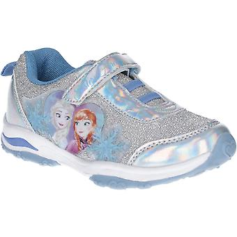 Leomil Girls Frozen Elsa and Anna Lights Up Glitter Trainers