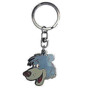 Das Dschungelbuch Schlüsselanhänger Baloo Schlüsselanhänger, silberfarben, aus Metall.