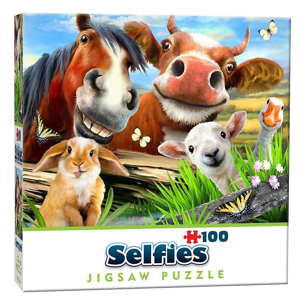 Farmyard Selfie Mini  Jigsaw Puzzle (100 Pieces)