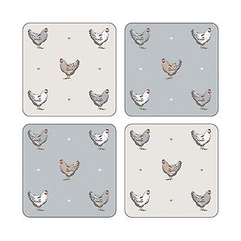 Cooksmart Pack of 4 Farmers Kitchen Coasters