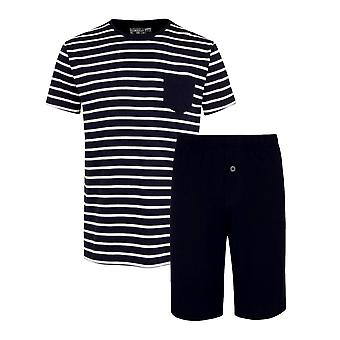Jockey 1/2 Knit Pyjama Gift Set - Navy Stripe