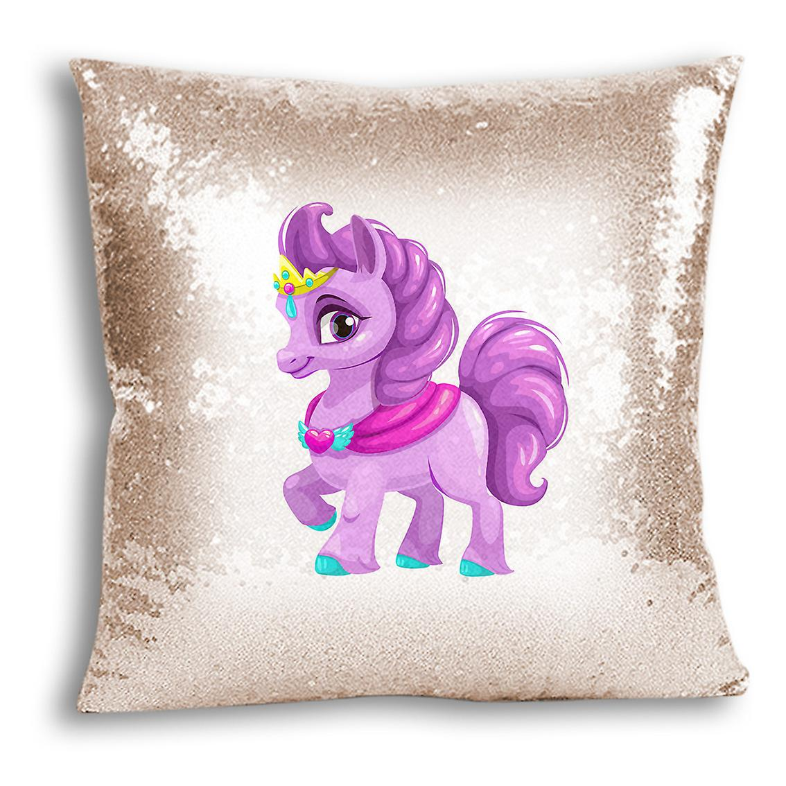 Cover Champagne tronixsUnicorn Sequin Printed Decor Design Home CushionPillow 18 For I 0m8wOnyvN