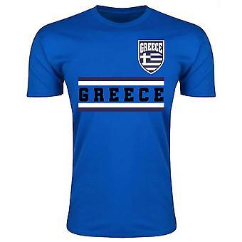 Griechenland Kern Fußball Land T-Shirt (blau)