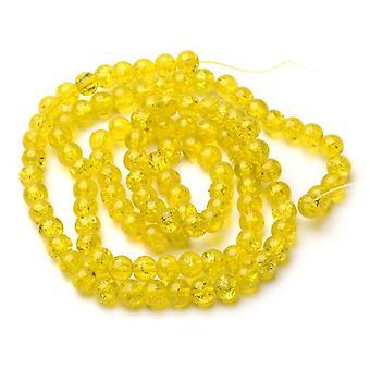 Strand 95 + gul revnet glas 8mm almindelig runde perler Y07415