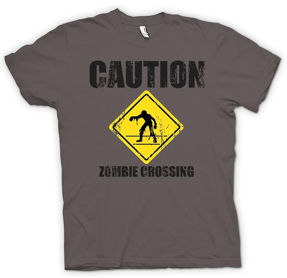 Womens T-shirt - Zombie Crossing - Funny - Horror