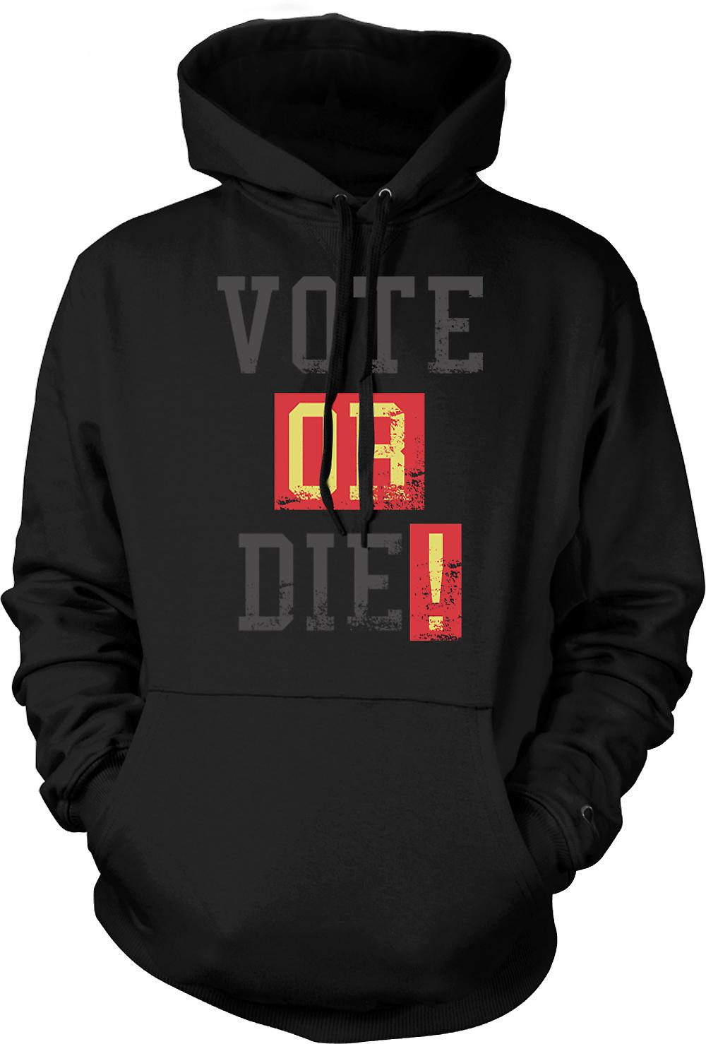 Mens Hoodie - Vote Or Die - Funny South Park Inspired