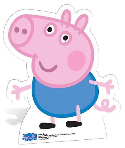 Recorte de cartón de tamaño natural de George Pig / pie - Peppa Pig