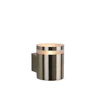 Lucide Basco-LED Modern Round Metal Satin Chrome Wall Light