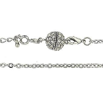 The Olivia Collection Set of 2 Silvertone Chain Extenders & 1 Magnet Closure