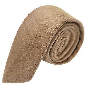 Luxury Camel Brown Donegal Tweed Tie